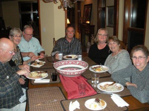 Dinner at Ward's Home