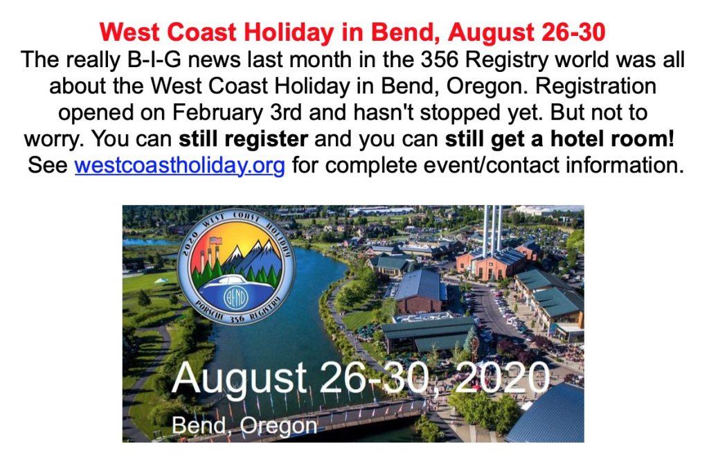 356 Registry West Coast Holiday @ Bend, OR